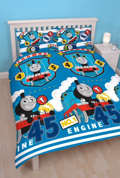 Thomas & Friends 'Patch' Reversible Rotary Double Bed Duvet Quilt Cover Set
