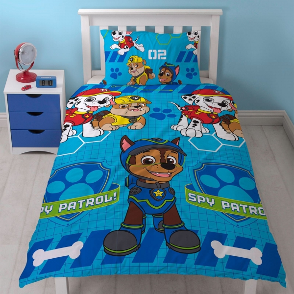 Paw Patrol 'Spy' Reversible Rotary Single Bed Duvet Quilt Cover Set