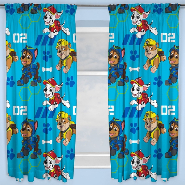 Paw Patrol 'Spy' Pencil Pleat 66 X 54 inch Drop Curtain Pair