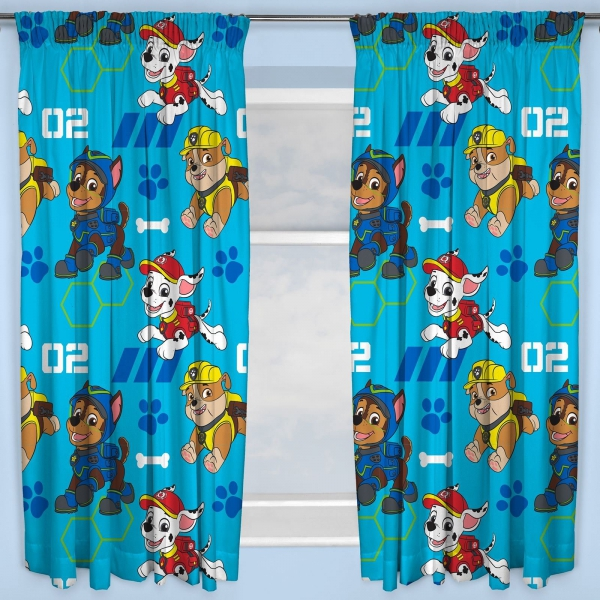 Paw Patrol 'Spy' 66 X 72 inch Drop Curtain Pair