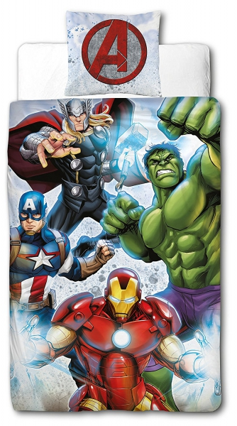 Marvel Avengers Panel Single Bed Duvet Quilt Cover Set