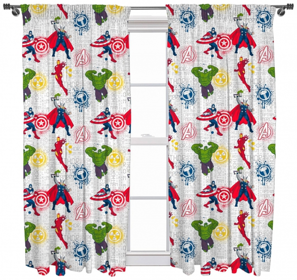 Avengers 'Mission' 66 X 72 inch Drop Curtain Pair