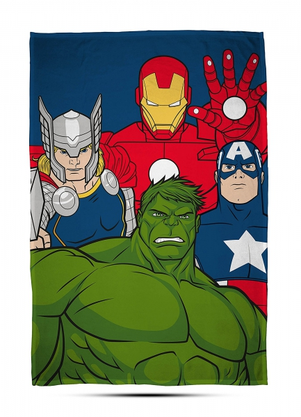 Avengers 'Mission' Panel Fleece Blanket Throw