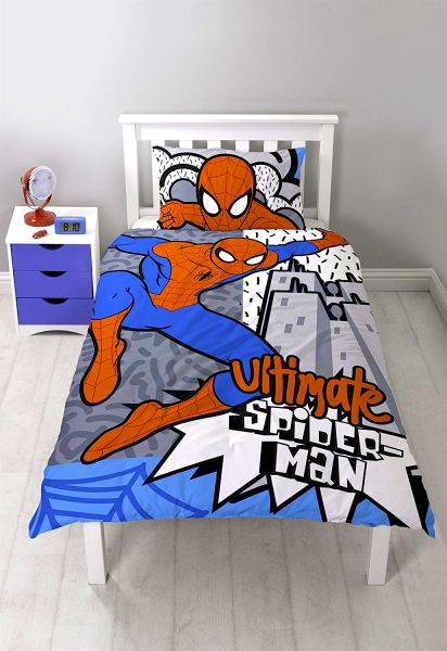 Spiderman 'Hang' Panel Single Bed Duvet Quilt Cover Set