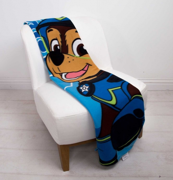 Paw Patrol 'Spy' Coral Panel Fleece Blanket Throw