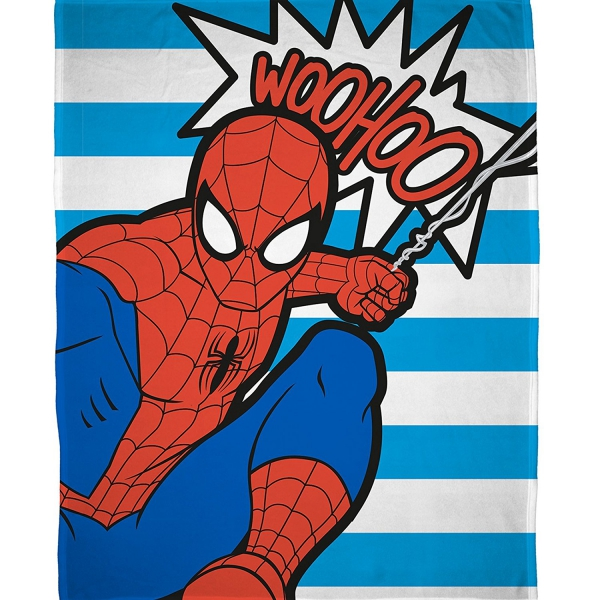 Ultimate Spiderman 'Abstract' Panel Fleece Blanket Throw