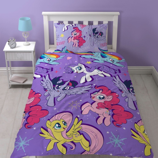 my little pony movie 39 adventure 39 rotary single bed duvet. Black Bedroom Furniture Sets. Home Design Ideas