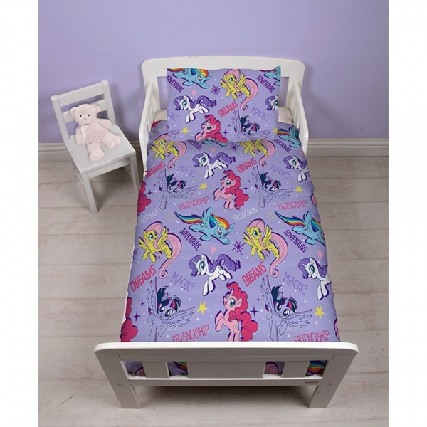 My Little Pony 'Adventure' Rotary Junior Cot Bed Duvet Quilt Cover Set