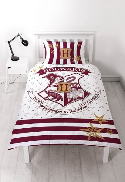 Harry Potter 'Muggles' Reversible Panel Single Bed Duvet Quilt Cover Set