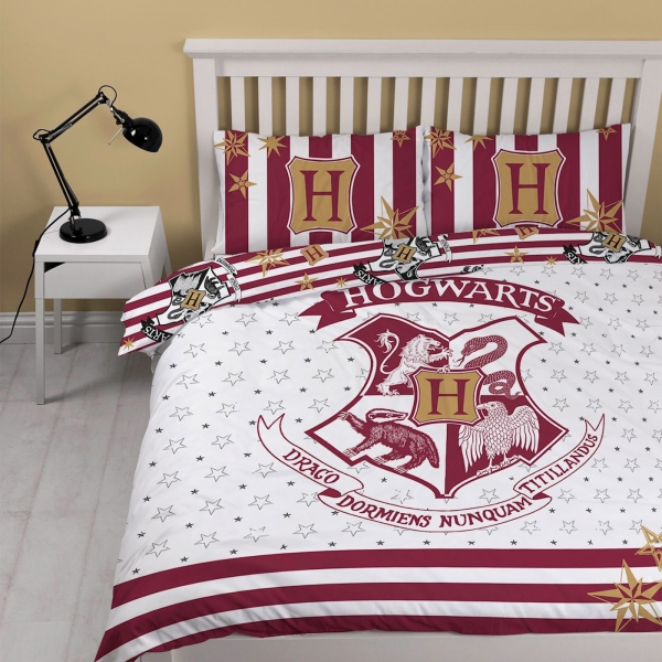 Harry Potter 'Muggles' Reversible Panel Double Bed Duvet Quilt Cover Set