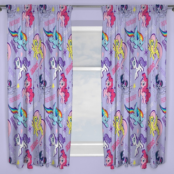 My Little Pony Adventure Pencil Pleat 66 X 72 inch Drop Curtain Pair