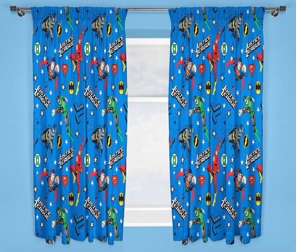 Justice League 'Inception' 66 X 72 inch Drop Curtain Pair