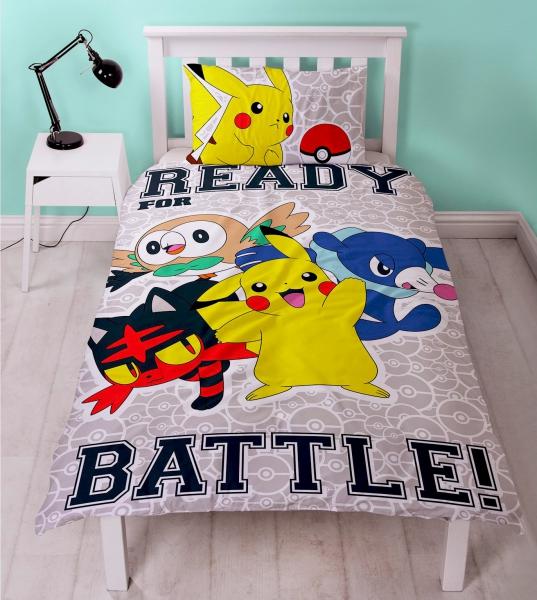 Pokemon 2-side Pikachu Laredo Panel Single Bed Duvet Quilt Cover Set