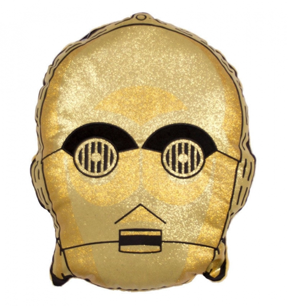Stars Wars Ep8 Gold Shaped Embroidered Cushion