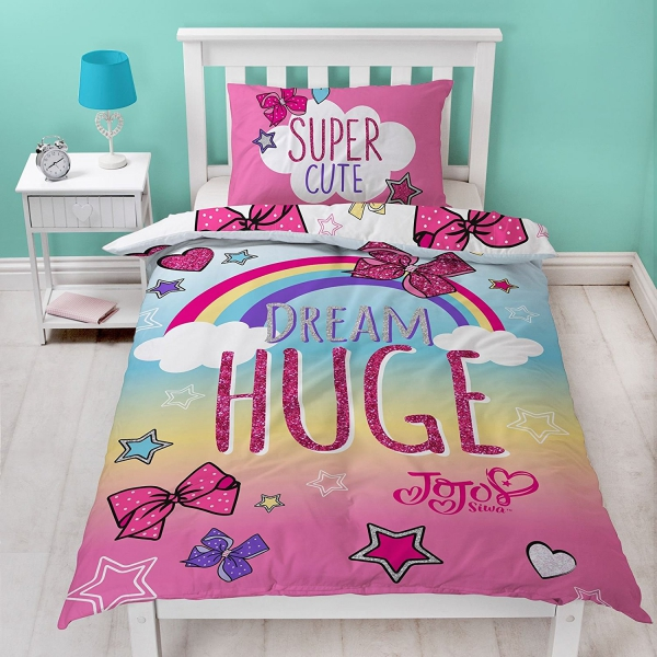 Jojo Cute Single Panel Reversible Bed Duvet Quilt Cover Set