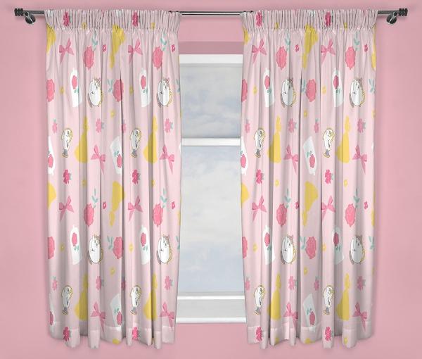 Disney Princess Royal 66 X 54 inch Drop Curtain Pair