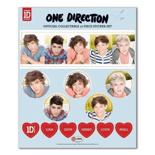 One Direction 12 Piece Sticker Set Decoration