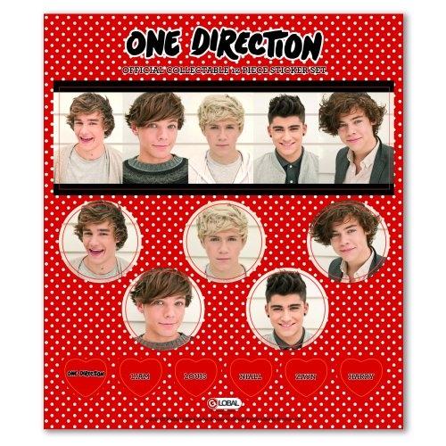 One Direction 'Phase 3' 12 Piece Sticker Set Decoration