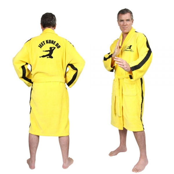 Bruce Lee Yellow Adult One Size Bathrobe