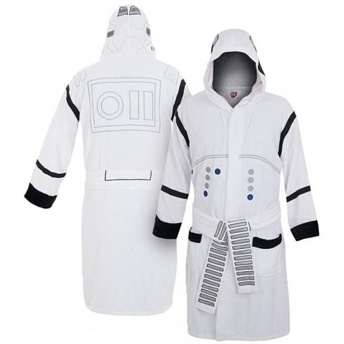 Star War 'Stormtrooper' White with Hood One Size Bathrobe