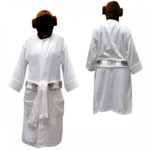 Star Wars 'Princess Leia' with Hood One Size Bathrobe