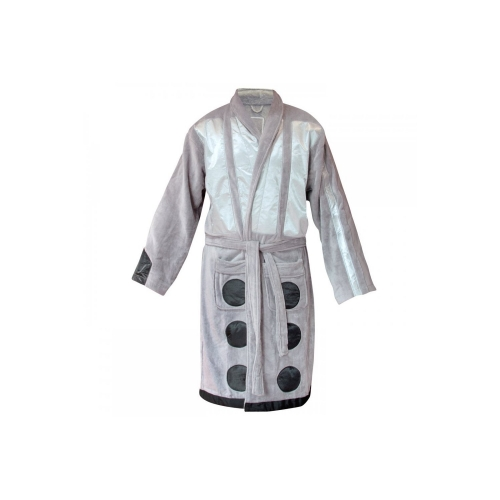Doctor Who 'Dalek Silver' One Size Bathrobe