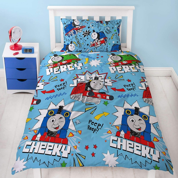 Thomas & Friends 'Sketchbook' Rotary Single Bed Duvet Quilt Cover Set