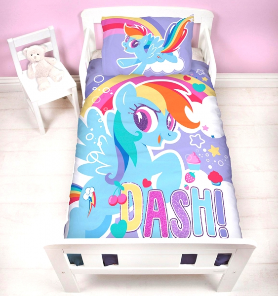 My Little Pony Crush Panel Junior Cot Bed Duvet Quilt Cover Set