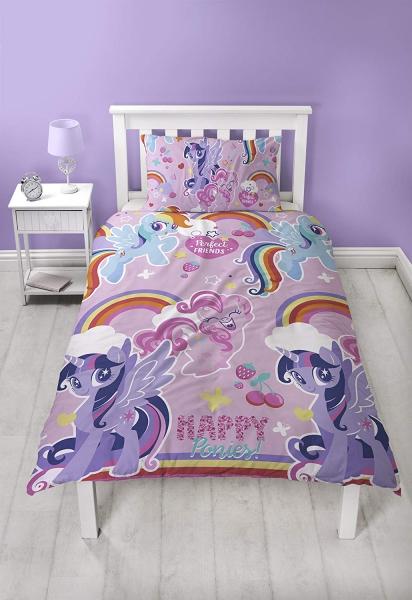 My Little Pony Crush Purple Reversible Rotary Single Bed Duvet Quilt Cover Set