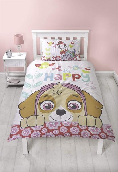 Paw Patrol Bright Panel Single Bed Duvet Quilt Cover Set