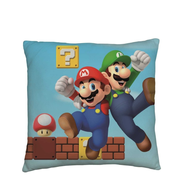 Nintendo Mario Gang Square Cushion Printed