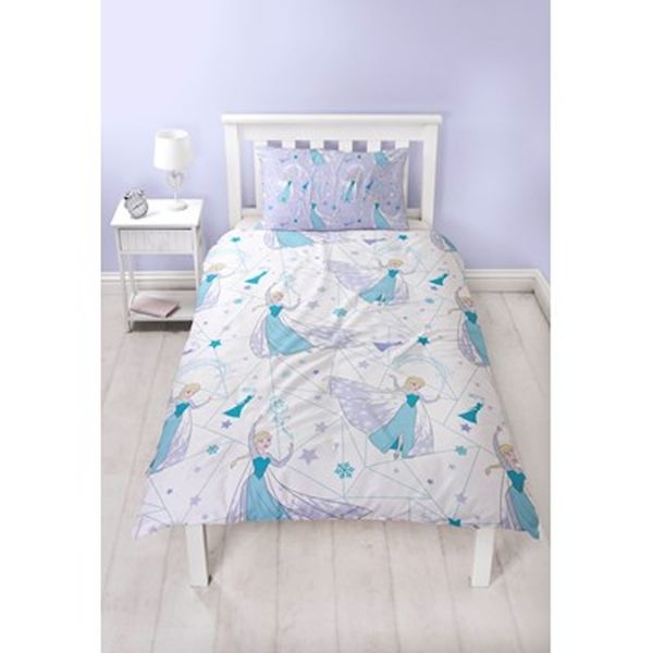 Disney Frozen Icicle Rotary Single Bed Duvet Quilt Cover Set