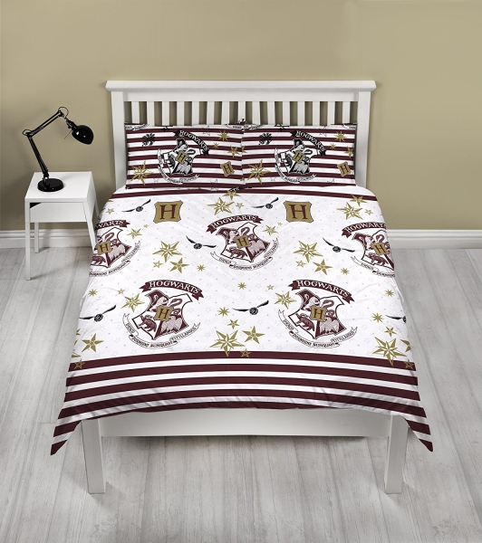 Harry Potter Hogwarts Muggles Rotary Double Bed Duvet Quilt Cover Set