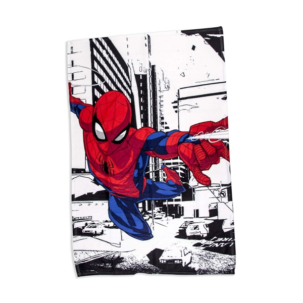 Disney Spiderman Metropolis Super Soft Panel Fleece Blanket Throw