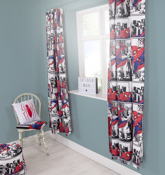 Marvel Spiderman Metropolis 66 X 54 inch Drop Curtain Pair