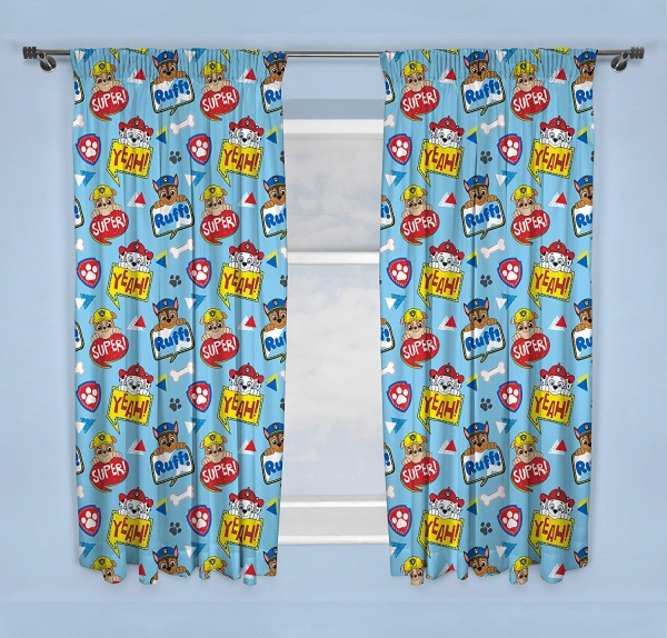 Paw Patrol Peek Blue 66 X 54 inch Drop Curtain Pair
