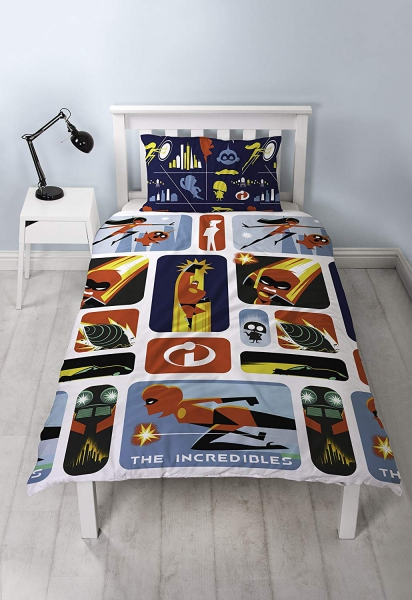 The Incredibles 2 'Retro' Rotary Single Bed Duvet Quilt Cover Set