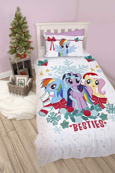 My Little Pony Besties Panel Single Bed Duvet Quilt Cover Set