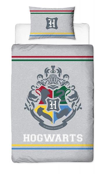 Harry Potter Alumni Hogwarts Crest Panel Single Bed Duvet Quilt Cover Set