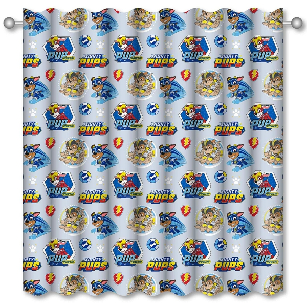Official Paw Patrol Super Mighty Pups 66 X 72 inch Drop Curtain Pair