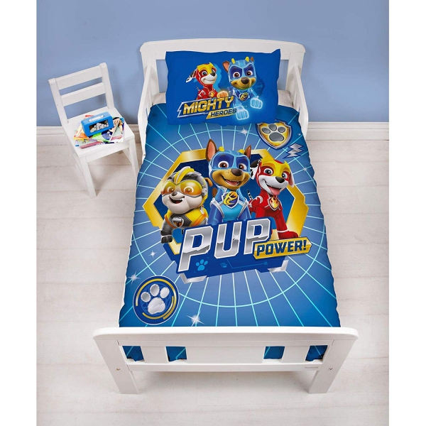Paw Patrol Super Panel Junior Cot Bed Duvet Quilt Cover Set