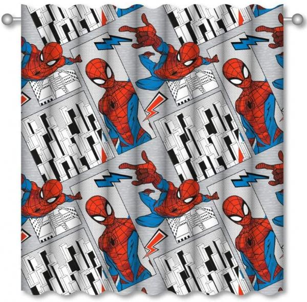 Marvel Spiderman Flight 66 X 54 inch Drop Curtain Pair