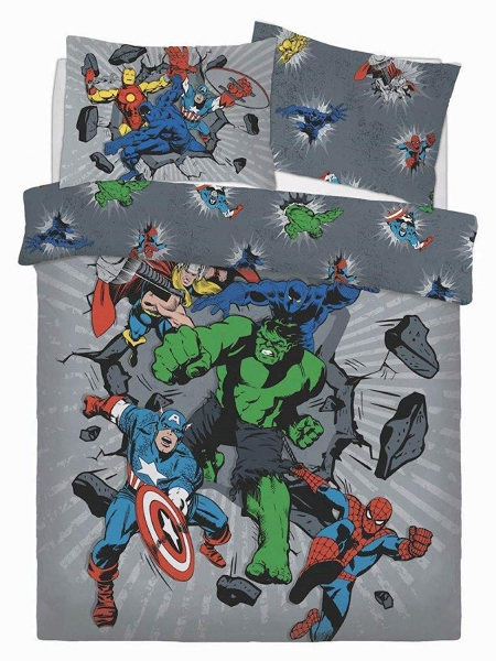 Marvel Comics Break Thru Panel Double Bed Duvet Quilt Cover Set