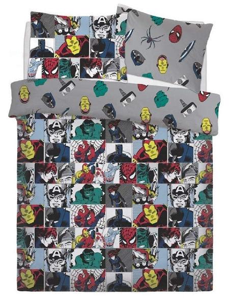 Marvel Comics Colour Pop Rotary Double Bed Duvet Quilt Cover Set