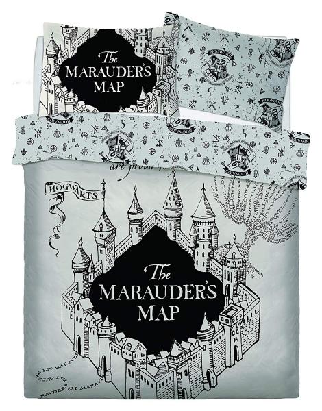 Harry Potter Marauders Map Panel Double Bed Duvet Quilt Cover Set