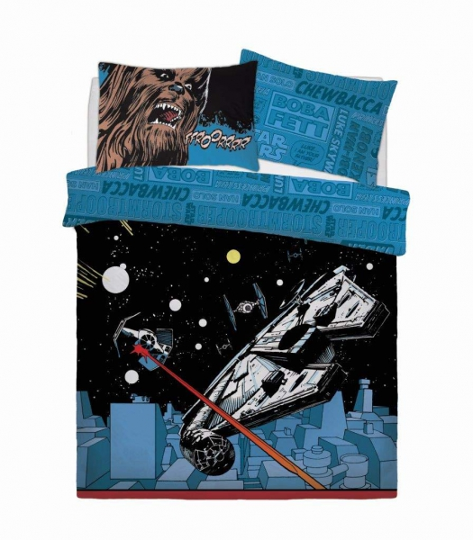 Star Wars Comic Pop Panel Double Bed Duvet Quilt Cover Set