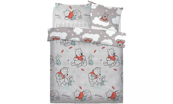 Disney Winnie The Pooh Whimsy Cloud Rotary Double Bed Duvet Quilt Cover Set