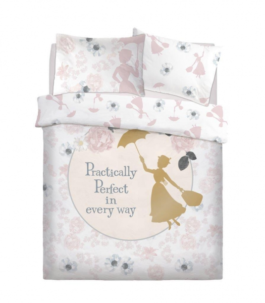 Disney Mary Poppins Perfect Reversible Panel Double Bed Duvet Quilt Cover Set