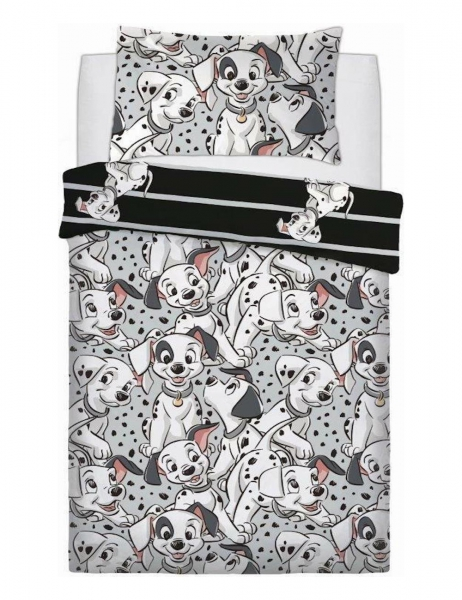 Disney 101 Dalmatians Reversible Rotary Single Bed Duvet Quilt Cover Set