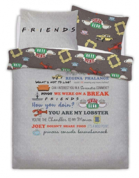 Friends The Tv Series Rotary Double Bed Duvet Quilt Cover Set